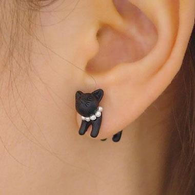 3D Jeweled Kitty Cat Ear Cuff (Single)