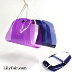 Colorful Transparent Face Mask Carry Purse