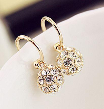 Magical Ball Rhinestone Earrings