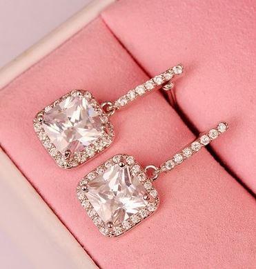 Princess Glamour Rhinestone Earrings